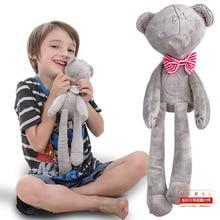 42 см Детский плюшевый медведь спящий Комфорт Кукла Плюшевые игрушки Гладкий послушный медведь спать спокойно кукла детская Спящая Кукла рождественские подарки