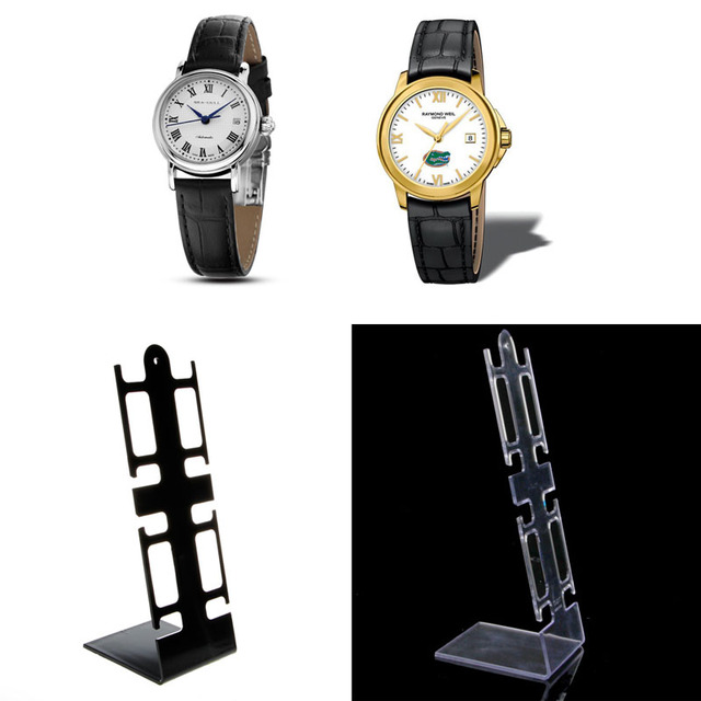 Free delivery Portable 4 Slots Plastic Watch Bracelet Showcase Display Stand Hol