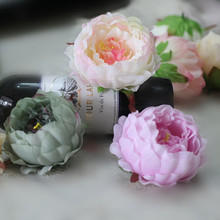 Artificial peony flower heads Multicolor Road lead wedding Bouquet hotel background wall decor accessories flores