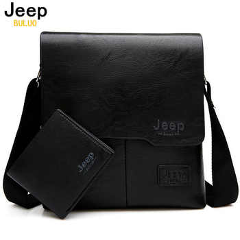 JEEP BULUO Men Messenger Bags 2 Set Famous Brand Pu Leather Crossbody Shoulder Bag For Man Business Tote Bags Hot Sale Fashion - DISCOUNT ITEM  47% OFF All Category