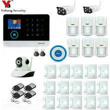 Yobangsecurity Беспроводной Wi-Fi GSM SMS Android IOS APP домашней охранной Охранной Сигнализации Системы Беспроводной Siren открытый ip-видео Камера