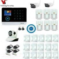 Yobangsecurity Беспроводной Wi Fi GSM SMS Android IOS APP домашней охранной Охранной Сигнализации Системы Беспроводной Siren открытый ip видео Камера