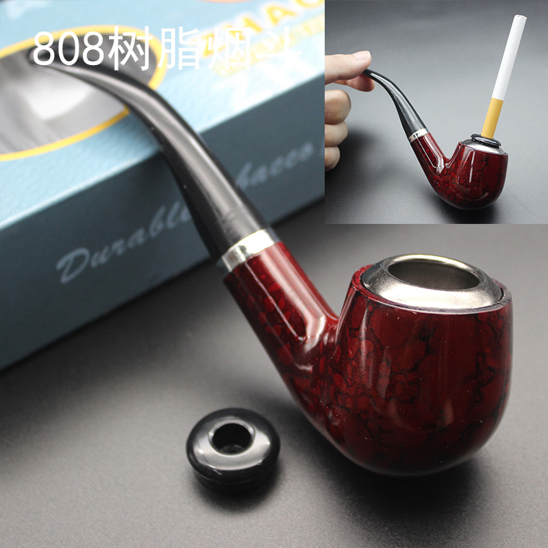 1pcs New Tobacco Smoking Pipe-Durable Classical Cigar Pipe With Rubber Ring Best Deal Pipes Gift Cigarette Cigar Tube Wood Pipe
