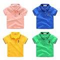 2017 verano camisa POLO de los muchachos niños rechazan corta bordada de la historieta camisa de algodón poliéster niño casual tops ropa de los niños
