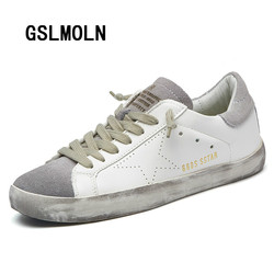2018 New Brand Designer 2017 Italy Golden Genuine Leather Casual Men Trainers Goose Star Shoes Breathe Shoes Footwear Zapatillas