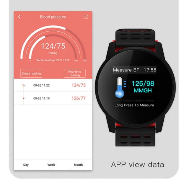 Inseguitore di fitness orologio da polso intelligente Oled di silice banda Heart Rate Monitor di pressione sanguigna tracker vita Impermeabile PKHonor fascia