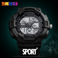 SKMEI Famous Brand Mens Wristwatches Outdoor Quartz Sports Watches Fashion Casual Multifunction Waterproof Dual Display Watch