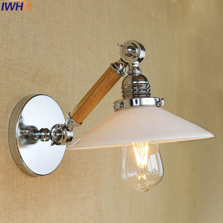 high quality outdoor waterproof up and down lighting wall lamps led spot wall light sconces 6w IWHD Wood Wall Sconces Led Wall Light Up Down For Home Lighting Fixtures Glass Arandela Arm Sconce Luminaire Lampara De Pared