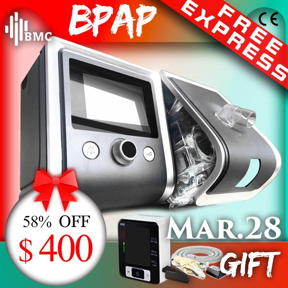 BMC GII BPAP T-20A/25A/25 T À Deux Niveaux CPAP Thérapie L'apnée Du MPOC Avec pouls au bout des doigts Oxymètre SpO2 kit Complet visage Masque Tuyau Humidificateur
