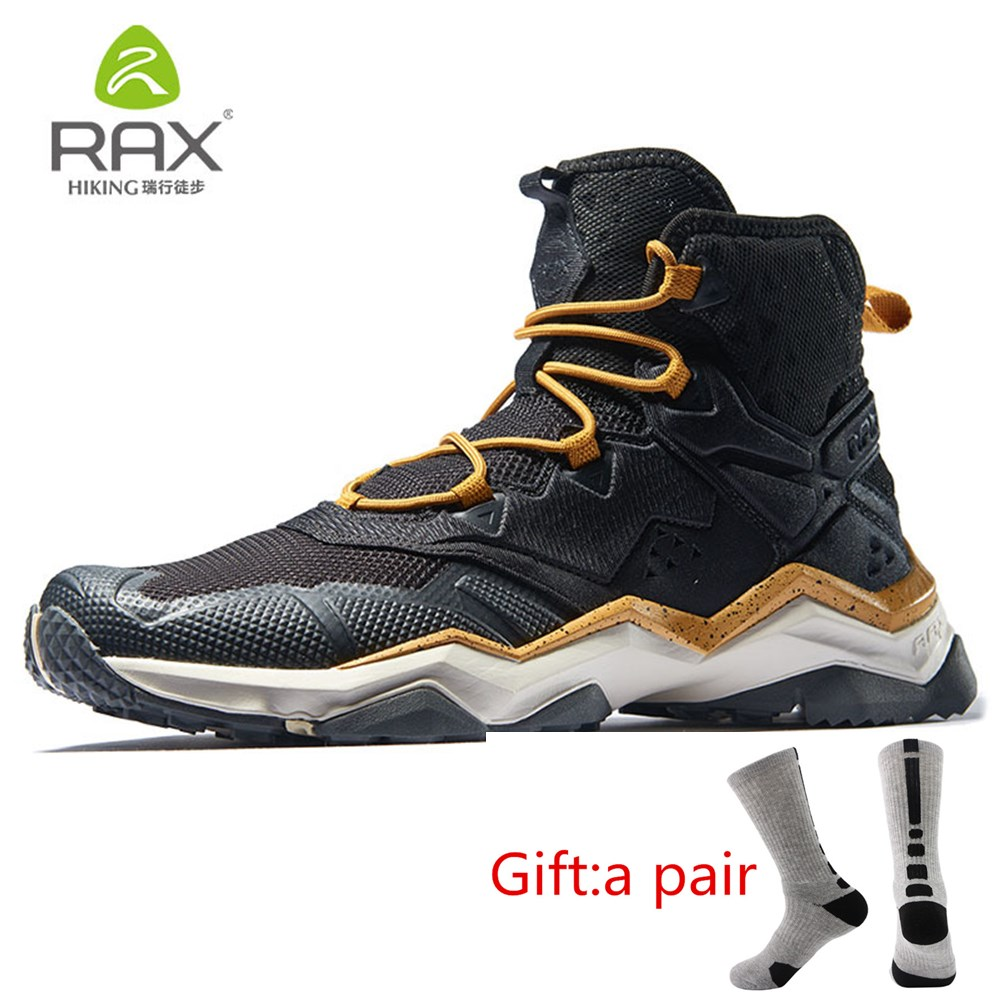 RAX Men Winter Outdoor Sports Shoes Hiking Boot Warm Mountain Trekking Anti-slip Shoes Outdoor Comfortable Shoes with gift mulinsen brand new winter men sports hiking shoes cowhide inside keep warm sport shoes wear non slip outdoor sneaker 250666