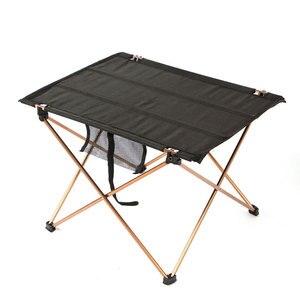 Image 1 - Складной стол для кемпинга, водонепроницаемый ультралегкий прочный складной столик из алюминиевого сплава для пляжа и пикника, барбекю