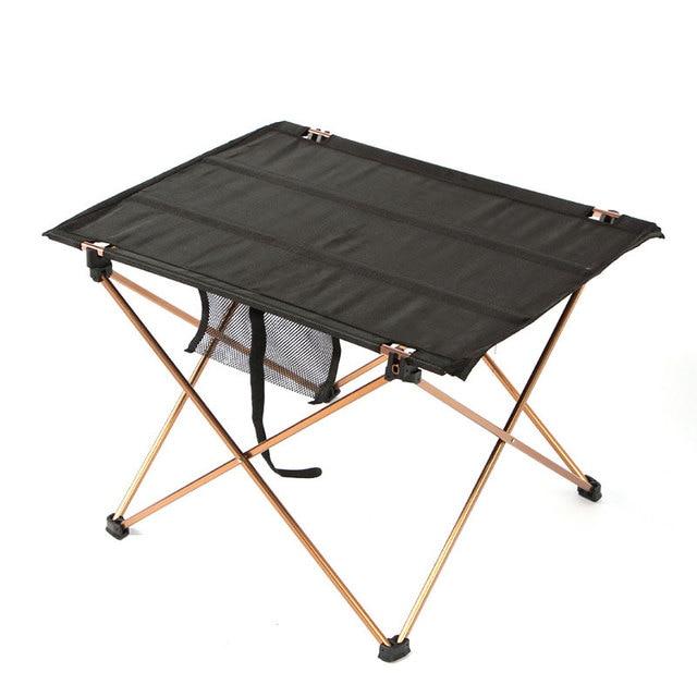 Складной стол для кемпинга, водонепроницаемый ультралегкий прочный складной столик из алюминиевого сплава для пляжа и пикника, барбекю