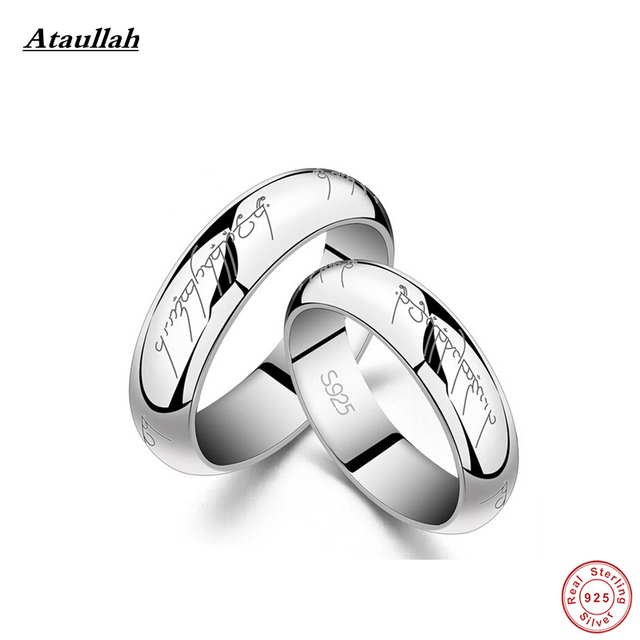 Ataullah Lord of the Rings 925 Sterling Silver Ring For Lovers New Fashion Jewelry Gift for Lovers  T.J. RWD210