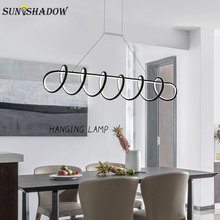 Modern Led Pendant Lights For Living room Dining room Kitchen Lamps Black&White Aluminum Alloy Led Pendant Lamp Hanging Lighting antique aluminum alloy glass shade outdoor pendant lights black brown grape rack exterior pathway walkway aisle hanging lamp