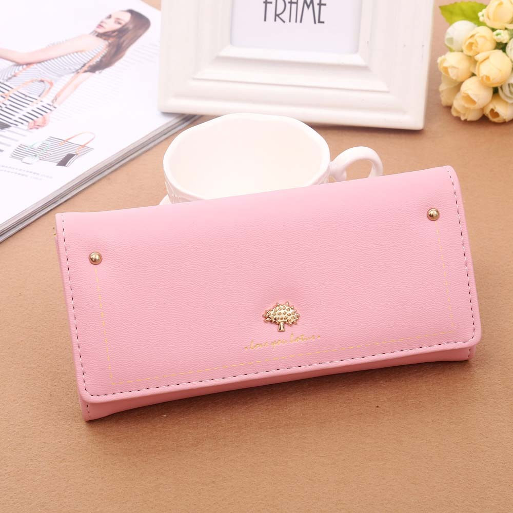 High Quality Women Fashion Wallet Women Tree Pattern Coin Purse Long Wallet Card Holders Handbag portfolios