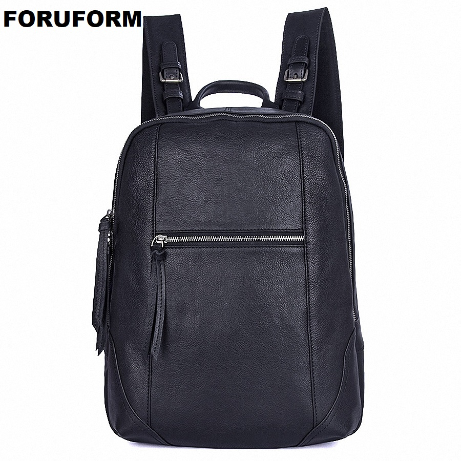 Men Backpack Genuine Leather Male Shoulder Bag Large Capacity Travel Bags For Man Trendy Business Laptop Bag School Bag LI-1992 male bag vintage cow leather school bags for teenagers travel laptop bag casual shoulder bags men backpacksreal leather backpack