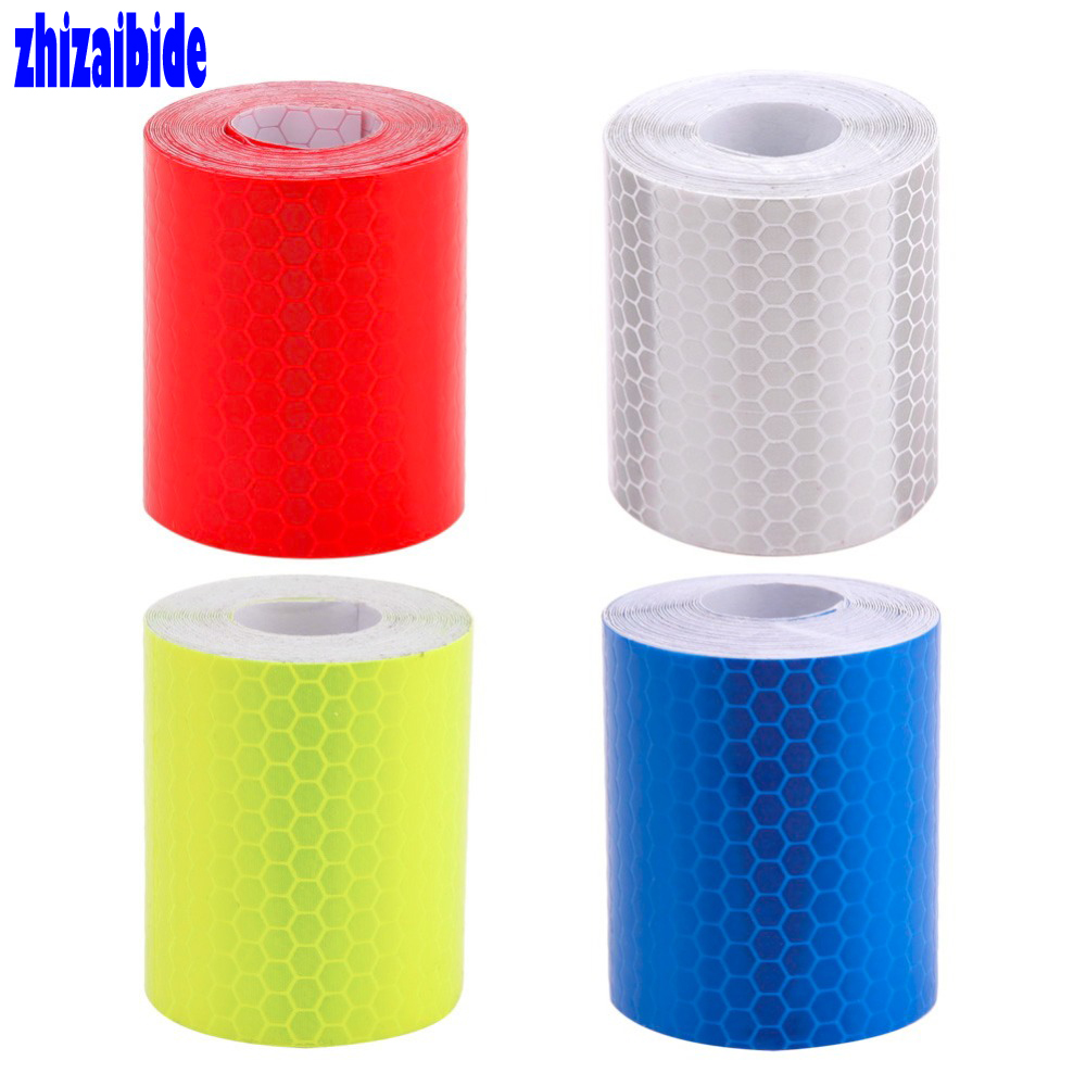 Zhizaibide 5cmx3m Safety Mark Reflective Car-Styling Self Adhesive Warning Tape Automobiles Motorcycle Stickers