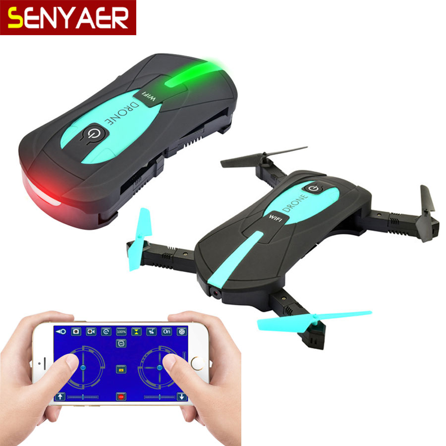 JY018 Portable folding Mini Wifi FPV drone with hd camera flight track function support Gravity sensing Pocket RC Helicopter