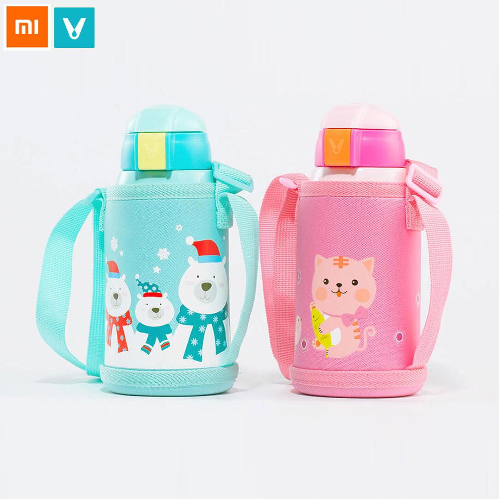 Xiaomi VIOMI Children Vacuum Insulation Drinking Cup 316 Stainless Steel Vacuum 590ml Bottle Safety Flask For