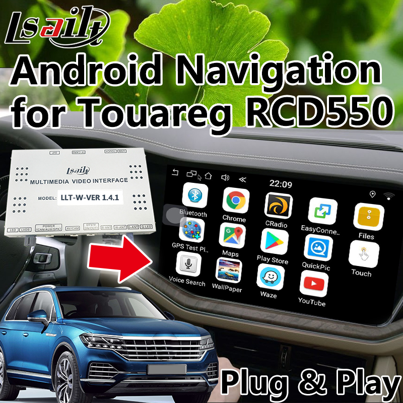 Plug&Play Video Interface Android Navigation for 2010 2018 Volkswagen Touareg RCD550 with Mirrorlink Online Map WIFI