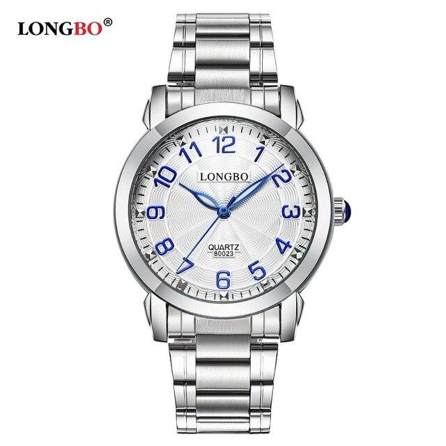 d12f73c186bfd6 Männer Frauen Bestseller Longbo Marke Sport Business Armbanduhr Uhr Mode- accessoires Edelstahl Armbanduhr 80023