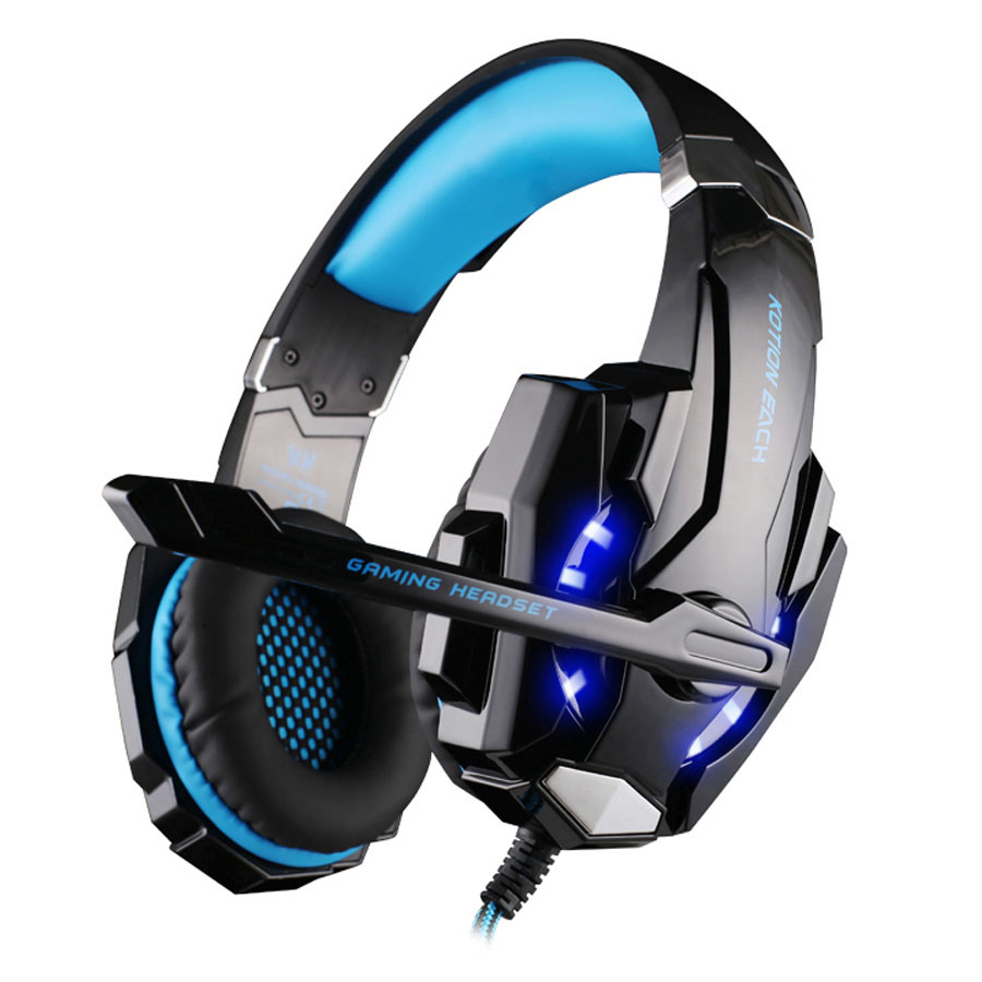 3.5mm Gaming Headphone Headband For iphone 6 6s Samsung s5 Xiaomi Smartphone KOTION EACH G9000 Headset With Microphone LED Light zealot bluetooth adapter splitter headphone amplifier compare headphone for cellphone helmet headset gaming unicorn headband