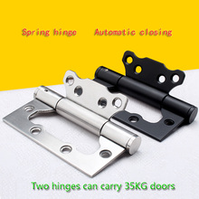 цена на Invisible door 4 inch hinge child spring with door closer automatic closing hinge without buffering