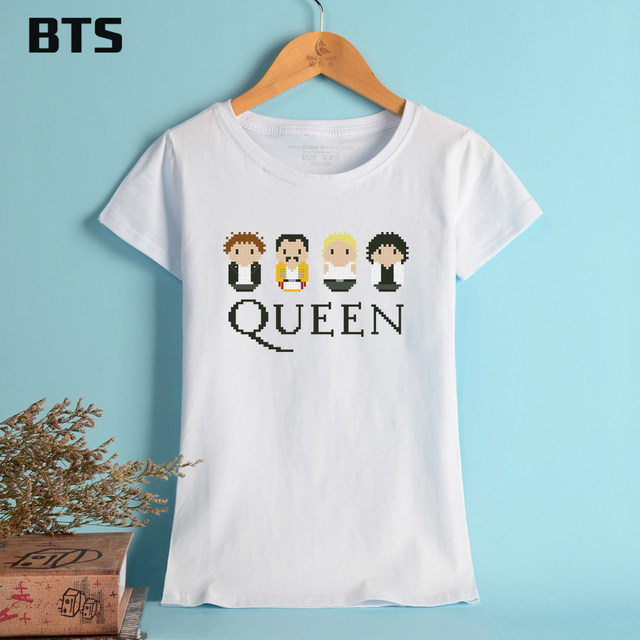 BTS Queen Band Oversized T shirt Women Cute Pattern Female And ...