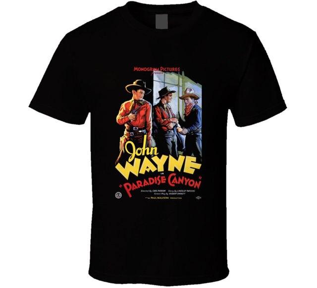 c71b3156 Paradise Canyon Movie Retro T Shirt Tee John Wayne Western Gift New Fashion  Mens Short Sleeve T-shirt Cotton T Shirts