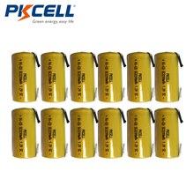 12個pkcellニッカド充電式バッテリーサブc sc 1.2v 2200mah ni cd電池 & タブ