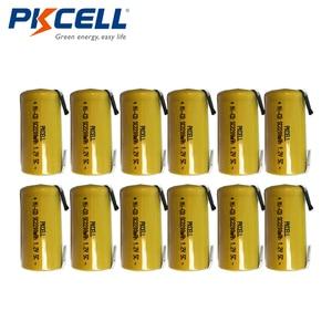 Image 1 - 12Pcs Pkcell Nicd Oplaadbare Batterij Sub C Sc 1.2V 2200Mah Ni Cd Batterijen & Tabs
