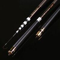 carbon taiwan fishing rod 7.2M azerothian m jade gold + spree ultra light 4 hard fishing rod hand pole fishing tackle set
