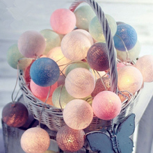 3M 20LED New Year LED String Fairy Light Cotton ball Christmas Tree Decorations for wedding Home Party Garland Battery Powered