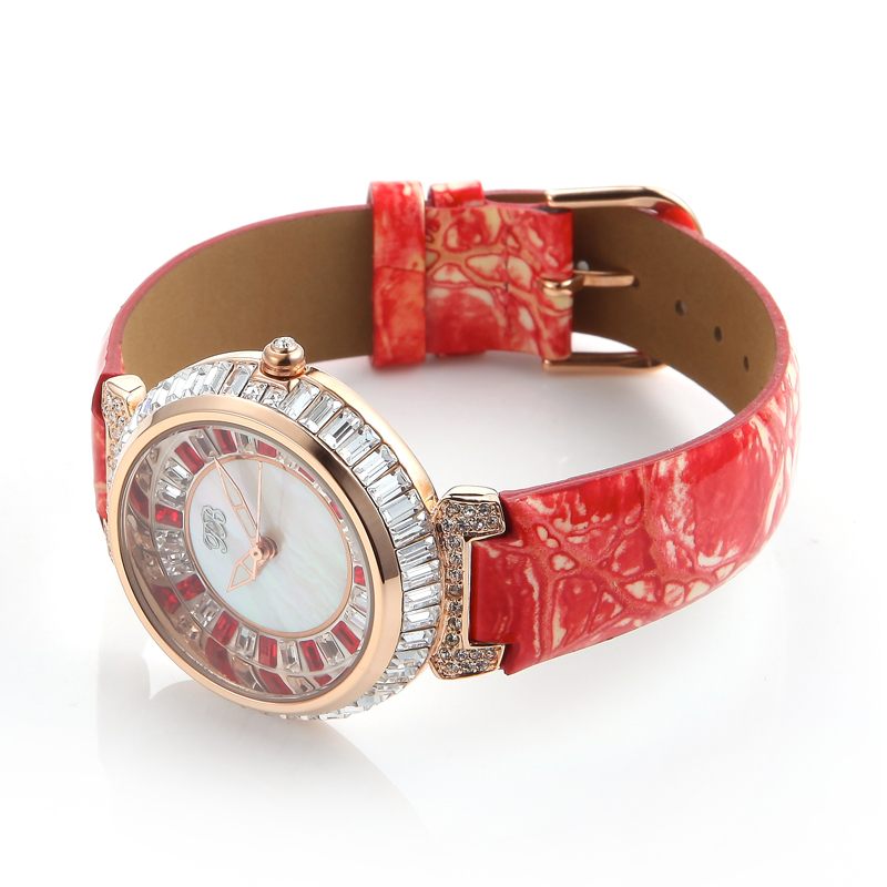 7a3e80ccd Designer Watch UK Girls Diamond Chinese Watches Famous Full Rhinestones  Ladies Brand Wristwatch Bling Dress Orange HL540PT PB-in Women's Watches  from ...
