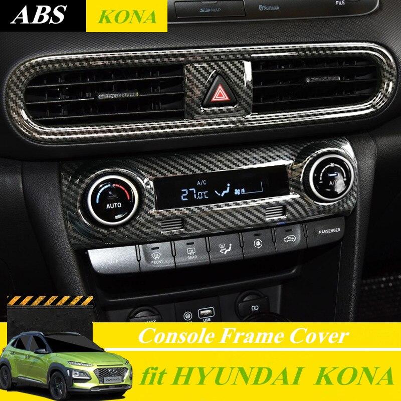 Pour Hyundai Kona/Kauai 2018 Intérieur Autocollant Sortie D'air Centrale Cadre Moyen Air Conditionné Bas Couverture Commutateur Cadre Kona