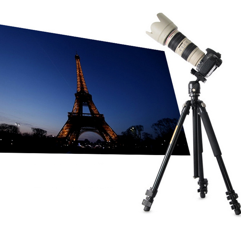 QZSD Q304 Camera tripod Fluid Damping Ballhead Professional Telescope Stable Aluminum 360 Video Camera Tripod Camera Accessories in Tripods from Consumer Electronics