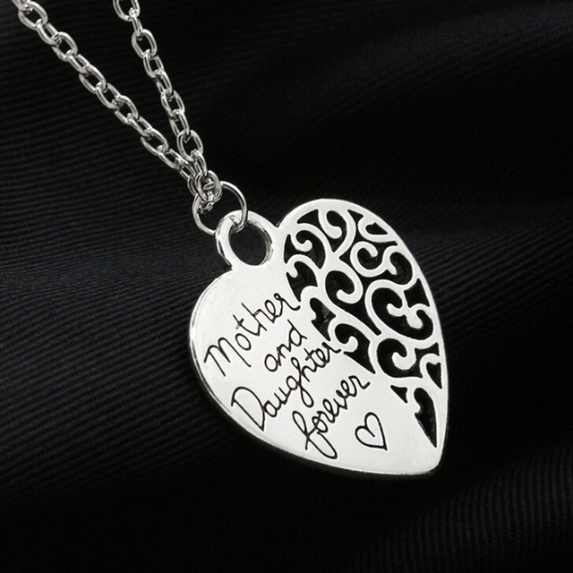 Heart love mom necklaces pendants for women girls female fashion heart love mom necklaces pendants for women girls female fashion jewelry silver plated mother daughter necklace aloadofball Choice Image
