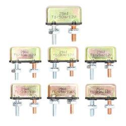 DC 12 V 10A/15A/20A/25A/30A/40A/50A Auto Reset metalowy PRZERYWACZ PRZERYWACZ dla podwójnego kable rozruchowe słoneczne akcesoria do łodzi