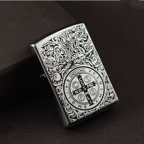 Metal attached present hell detective Constantine kerosene lighter Windproof Smoking konstantine Vintage Style oil Lighter