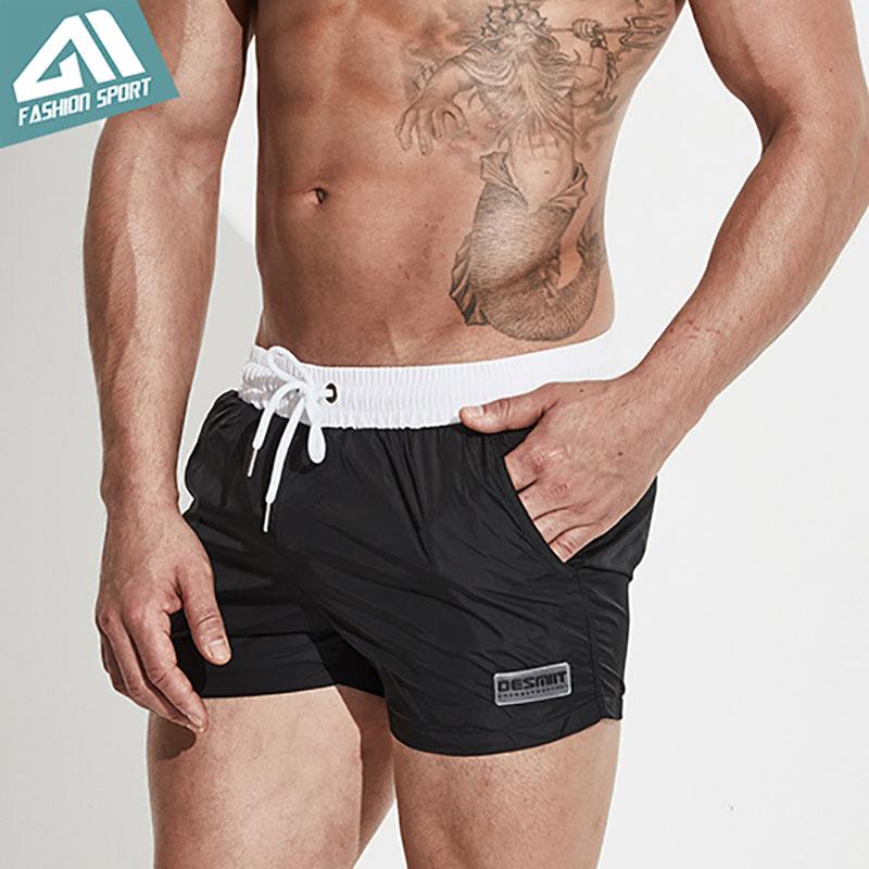 Pantallona të shkurtra noti për burra Desmiit Beachshort veror Burra Drejtuar stërvitjeve të shkurtra Stërvitje me shpejtësi të thatë Surfing Rreshtim Liner Sport DT68 i Shkurtër