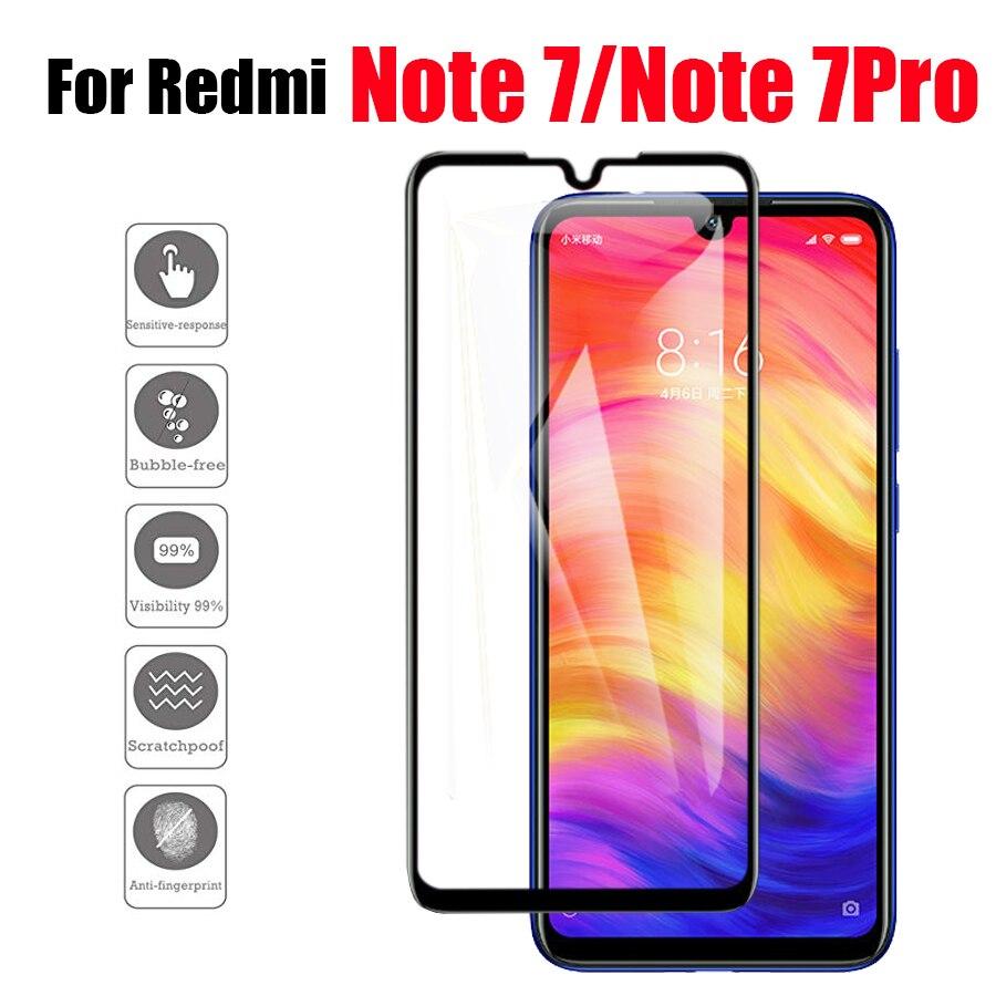 for xiaomi redmi note 7 screen protector on xiaomei xiami xiomi 7pro tempered glass protective film readmi glas note7 pro tremp