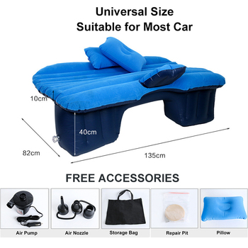 Car Air Inflatable Travel Mattress Bed Universal for Back Seat Multi functional Sofa Pillow Outdoor Camping 1