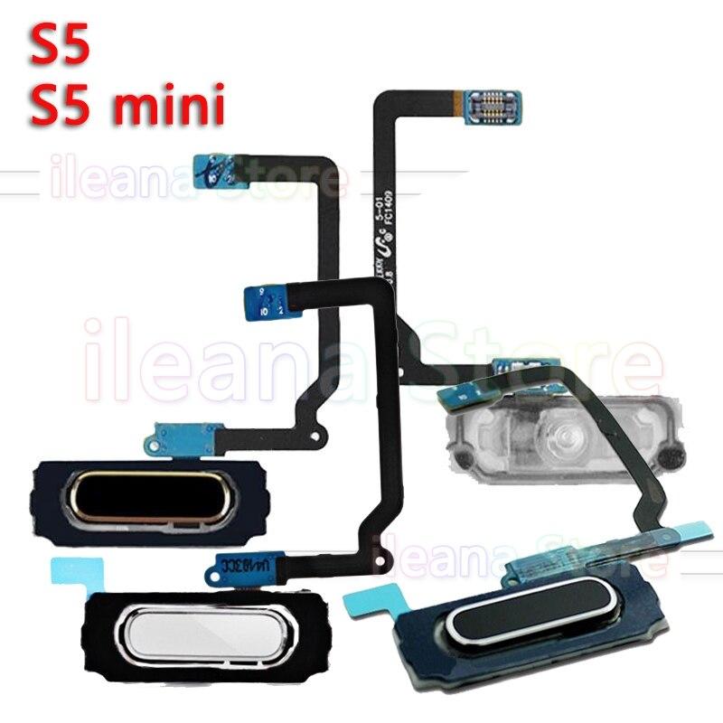 Home Flex For Samsung Galaxy S5 G900 G900H G900F S5 Mini G800 G800F Original Back Home Fingerprint Button Flex Cable