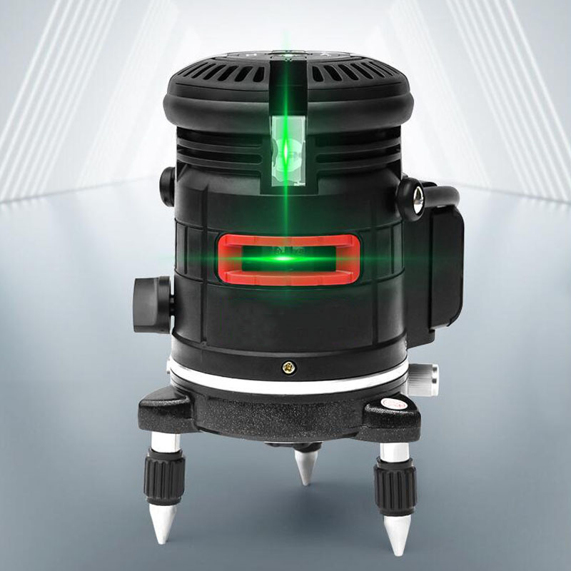 635nm 5-Line 6-Point Laser Level 360 Degree Rotation Self-Leveling Cross Line Automatic Meter Infrared