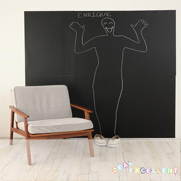 FREE SHIPPING, new arrival, 107CM*100CM blackboard sticker wall covering, vinyl chalkboard