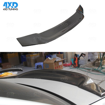W204 Coupe Carbon Fiber Spoiler R Style For Mercedes C180 C200 C250 C260 Rear Trunk spoiler Wing 2008 -2010 2011 2012 2013 2014 image