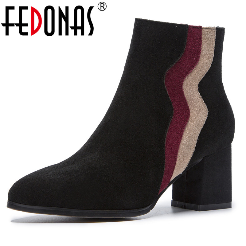FEDONAS Retro Genuine Leather Women Chelsea Boots Brand Winter Warm Short Ankle Boots Platform Single High Heels Ladies ShoesFEDONAS Retro Genuine Leather Women Chelsea Boots Brand Winter Warm Short Ankle Boots Platform Single High Heels Ladies Shoes