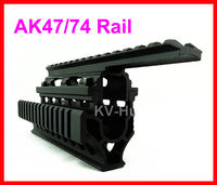 Hoge Kwaliteit Aluminium Tactical Airsoft AK47/74 Quad Rail Handguard Mount AK Rail Voor Hunting Pistol Lange Pistool Gratis verzending
