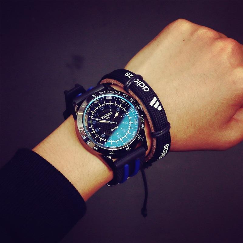 Mens Watch Luxury Casual New Fashion Hot Selling Quartz Leather Men's Wrist Watch  Big Dial Relogio Masculino Relojes Relogio
