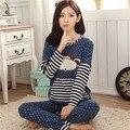 Outono caricatura ocasional sleepwear feminino primavera e no outono modal ocasional de manga comprida set lounge das mulheres